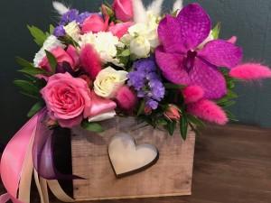 Ящичек с цветами