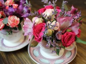 Чашка с цветами #165
