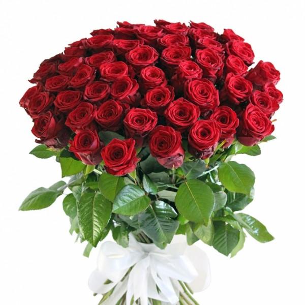 Букет из 45 красных роз 70 см